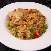 Rijst met kip en sherry