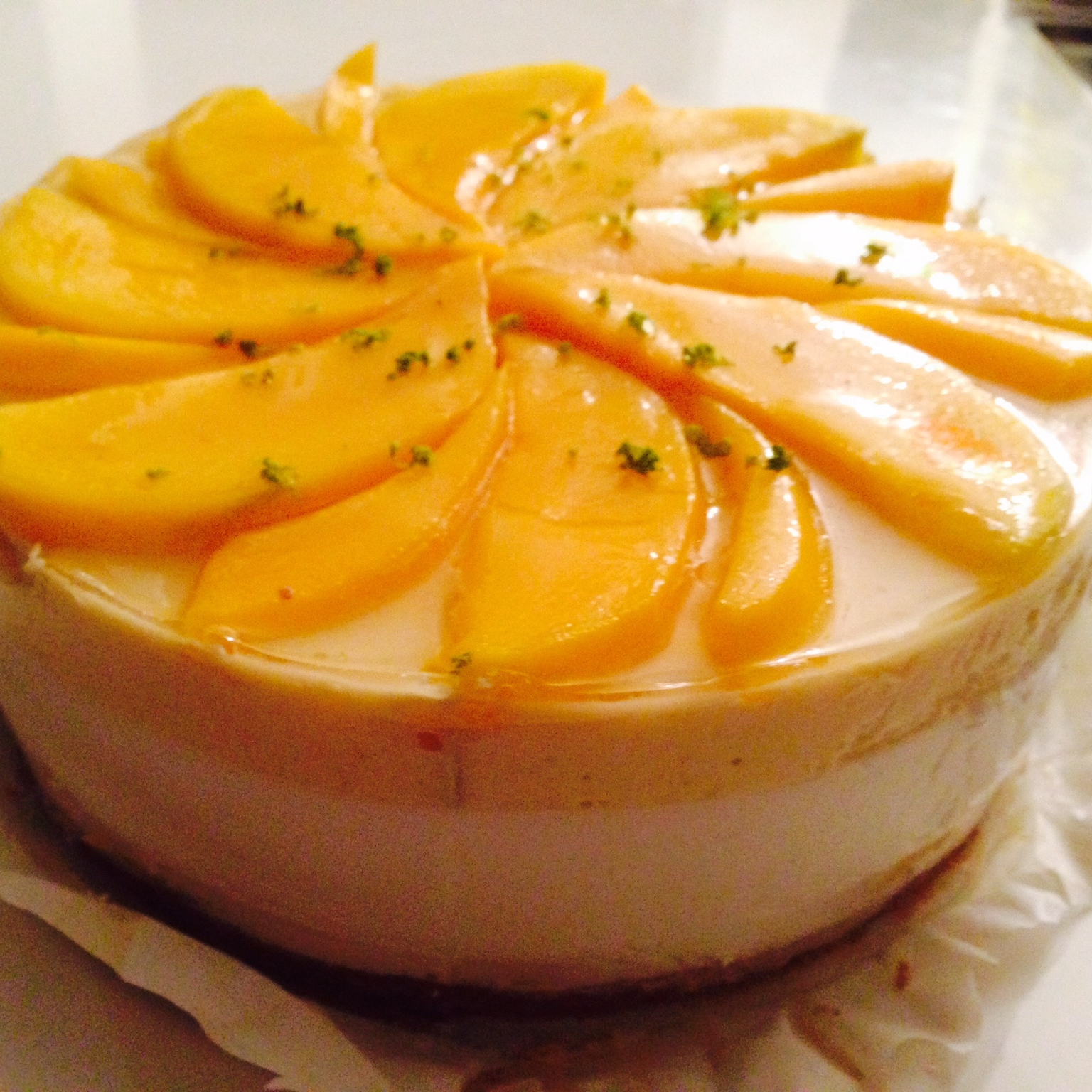 Kokosyoghurttaart met mango