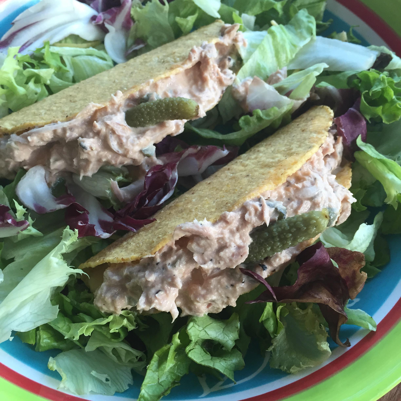 Taco's met een frisse tonijnsalade