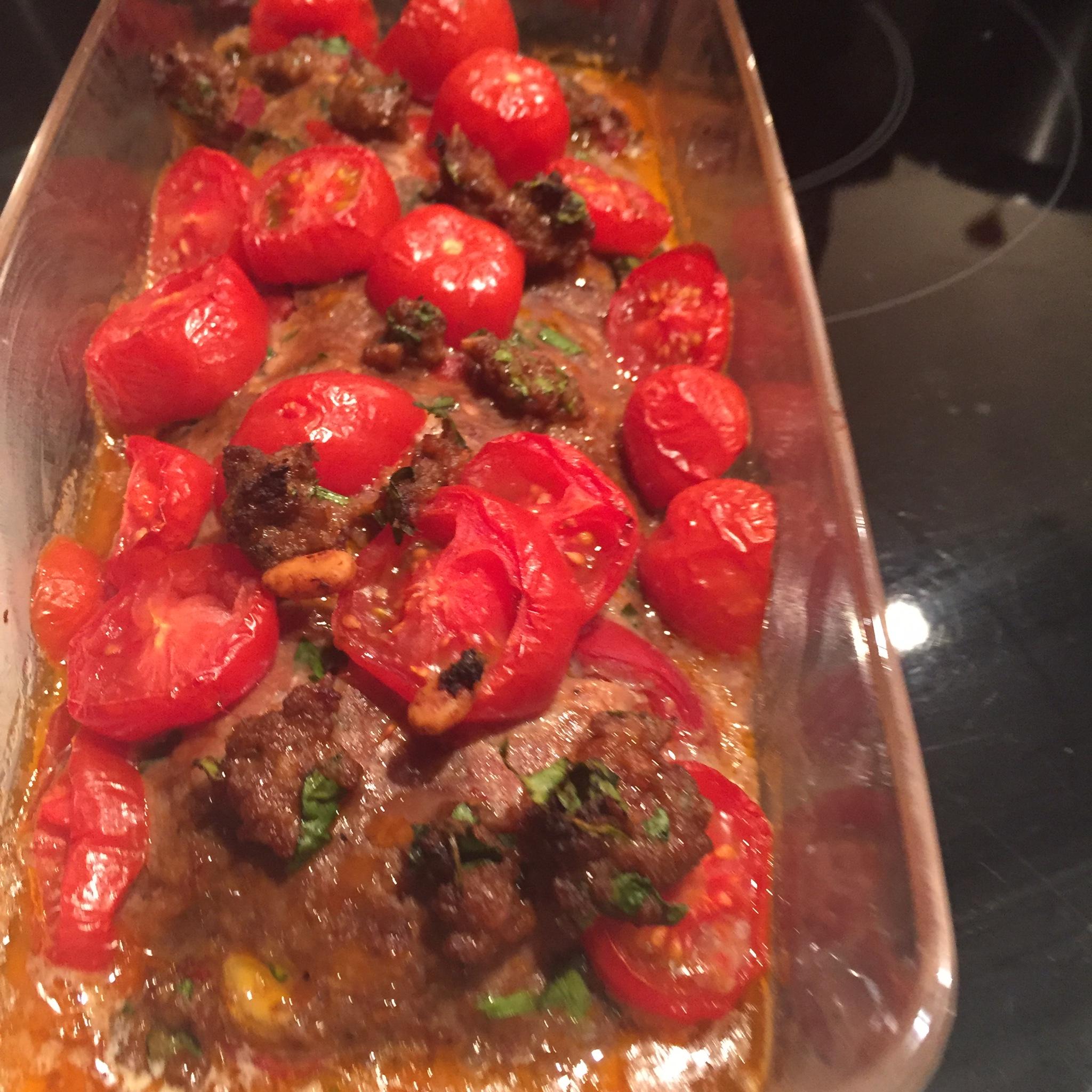 Tomaten-gehaktbrood met selderij