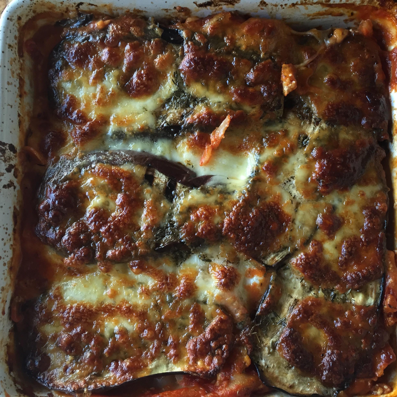 Lasagne met gegrilde aubergine