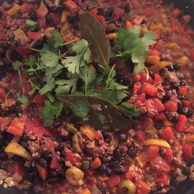 Picadillo (gehaktschotel met paprika)