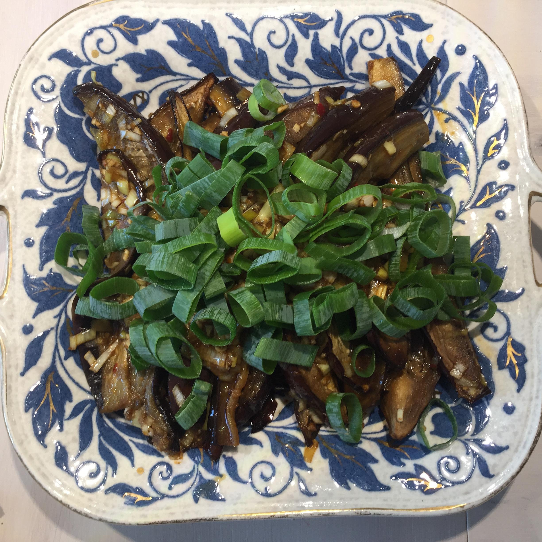 Auberginesalade met chinkiang