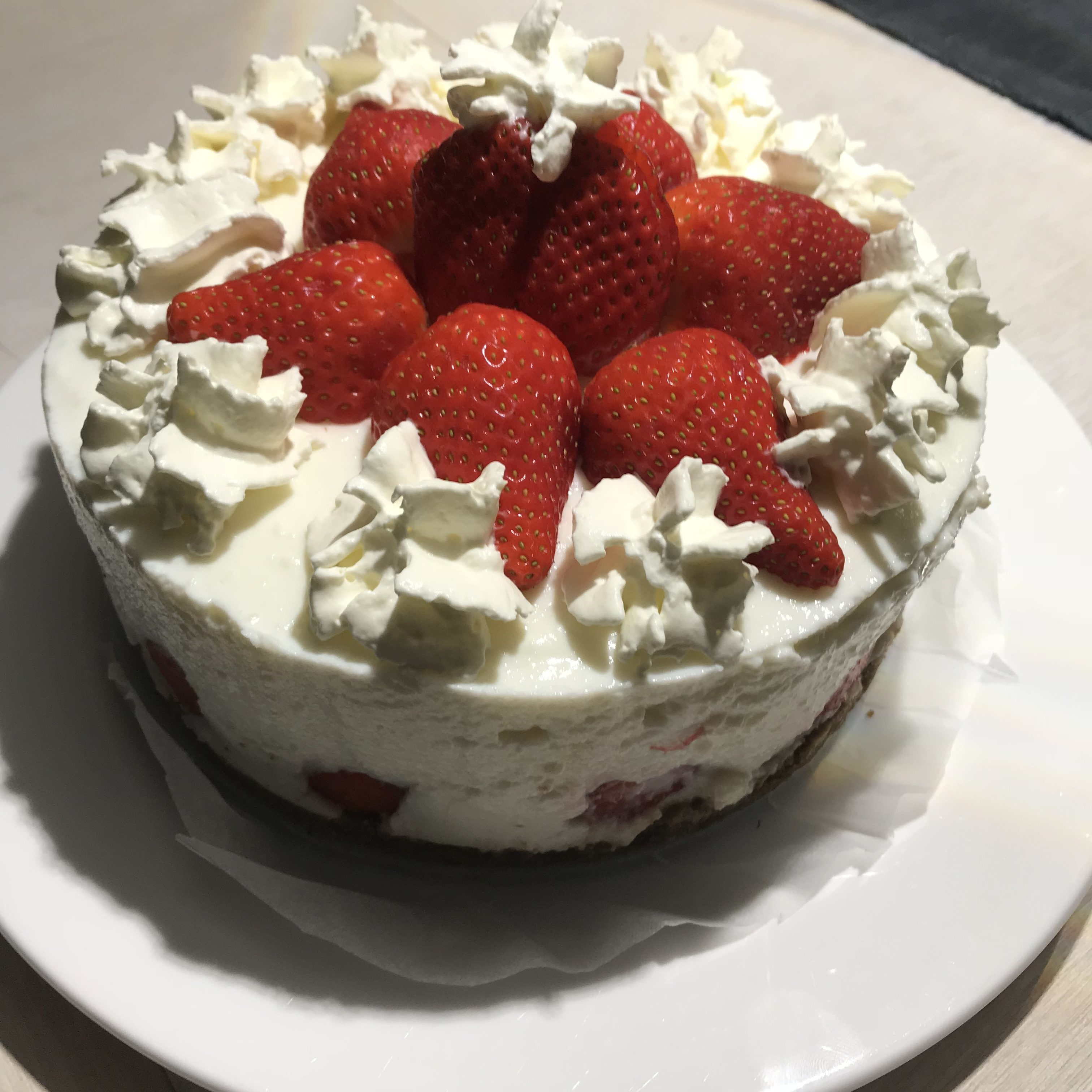 """Aardbeien """"cheese""""cake"""