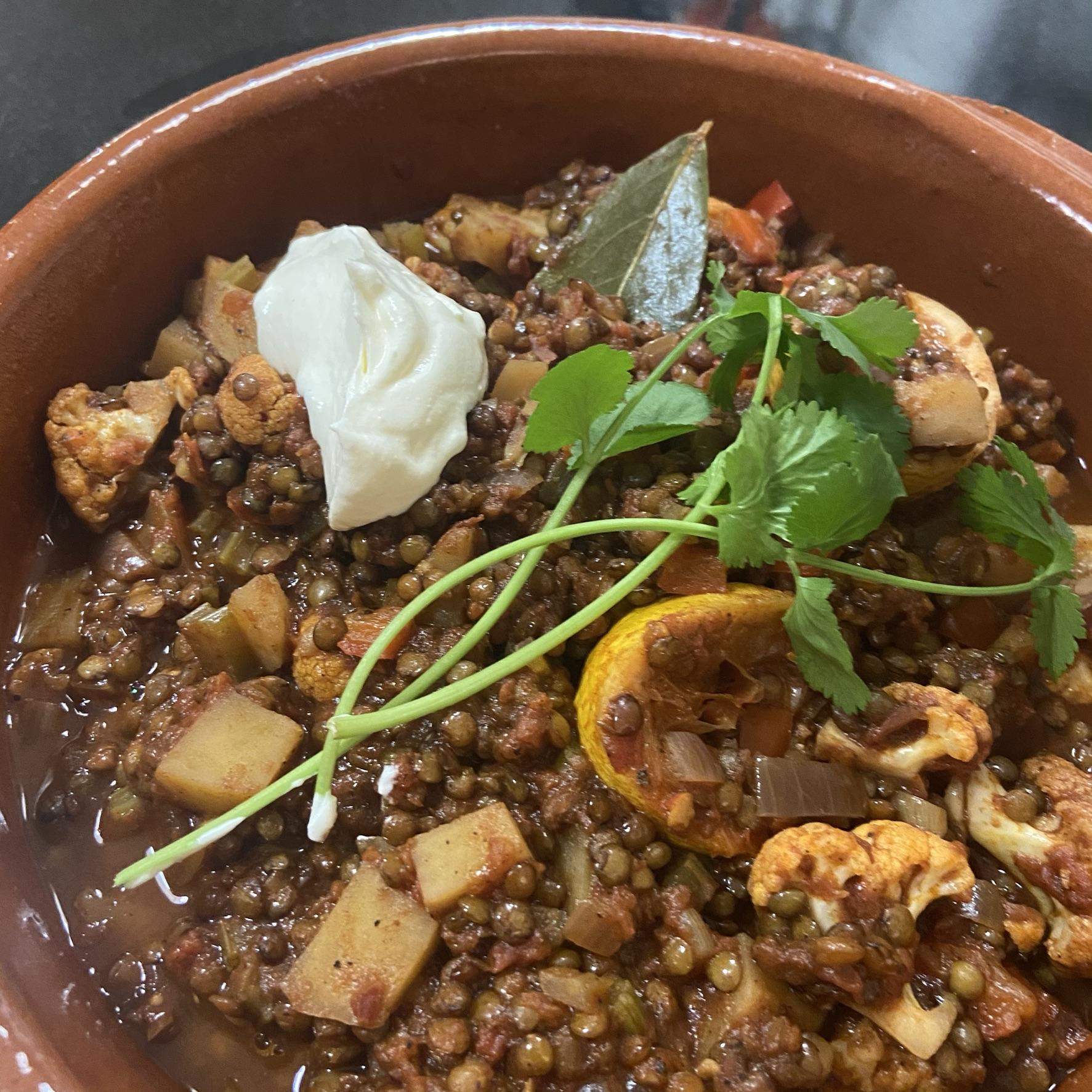 Spaanse stoofpot met linzen